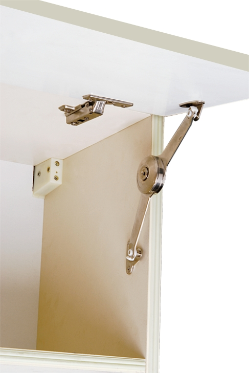 up-opening flap hinge